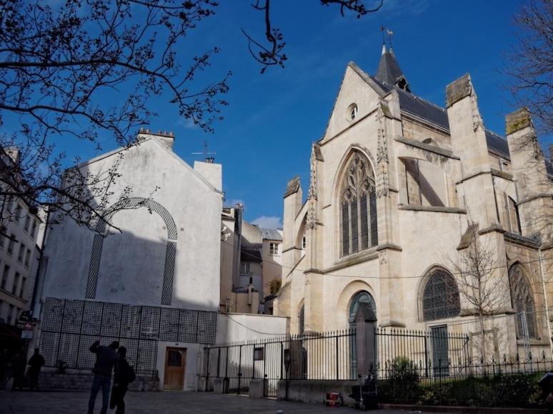 Rue Mouffetard - Eglise Saint-Médard