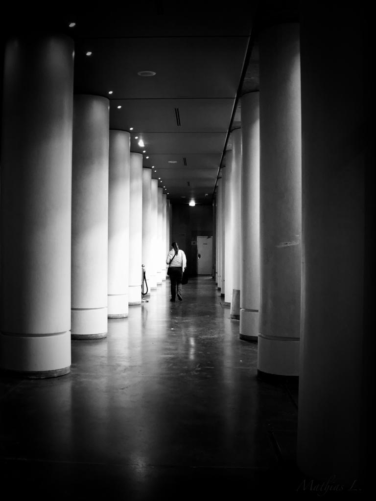silhouette et colonnes