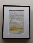 Lettre illustrant le parcours de Charcot