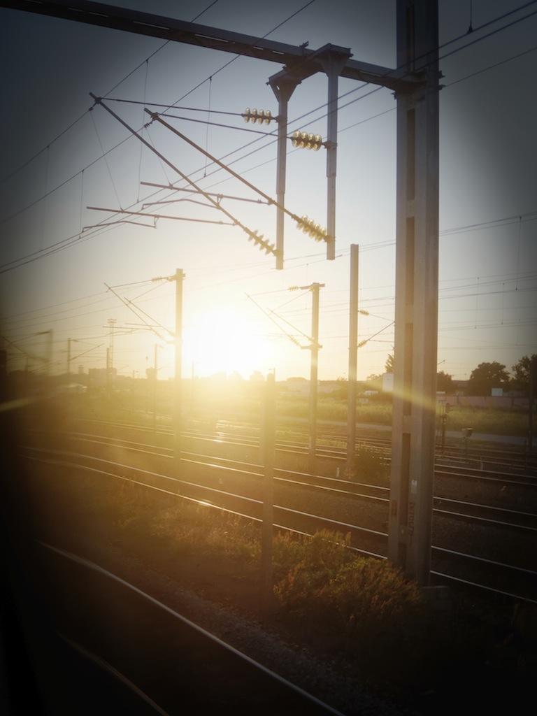 En train !