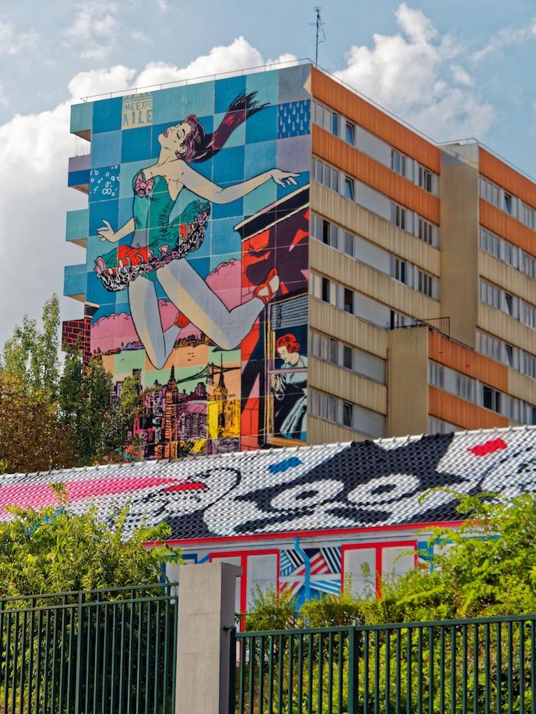 Ecole de la cité Dorée - Jeunes du Comité Parisien/ZDEY & La danseuse - FAILE